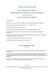 Publication au JORF du 5 avril 2001 Décret n°2001-286 du ... - Cerpet