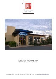 Function Package 2010 - Everton Park Hotel