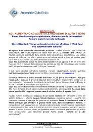 Comunicato stampa Autotrend settembre 2012 - ACI - Automobile ...