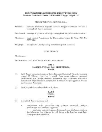 PP_1951_25_PERATURAN MENGENAI BANK ... - PTA Makassar