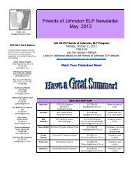 May 2013 - Johnston Community School District