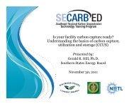 Dr. Gerald Hill's Presentation - Southeast Regional Carbon ...