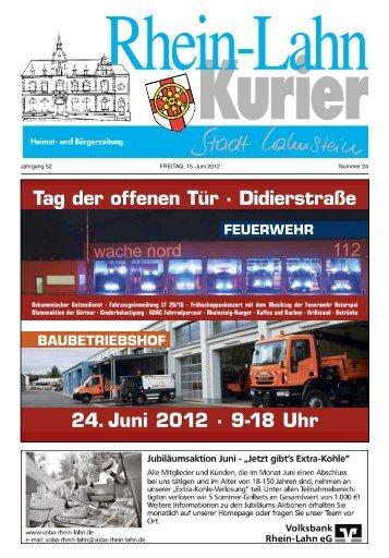 Tag der offenen Tür · Didierstraße 24. Juni 2012 · 9-18 Uhr - Lahnstein