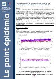 Point hebdomadaire n°353 du 19/12/11 au 25/12/11 - COLMU