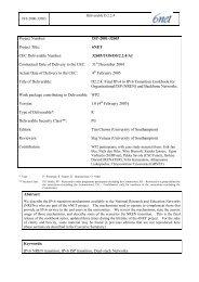 D2.2.4: Final IPv4 to IPv6 Transition Cookbook for ... - 6NET