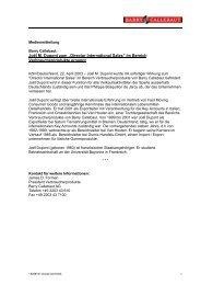 """Joël M. Dupont zum """"Director International Sales"""" - bei der ..."""