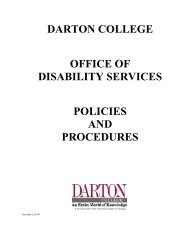 Disability Services Policies and Procedures Manual - Darton College