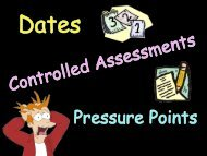 Dates, Pressure Points and Controlled Assessments Oct 2012 (pdf)