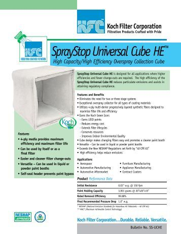 SprayStop Universal Cube HE™ - Koch Filter Corporation