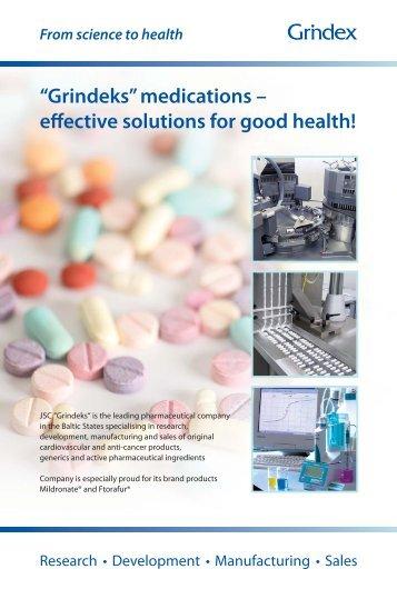 """""""Grindeks"""" medications – effective solutions for good health!"""