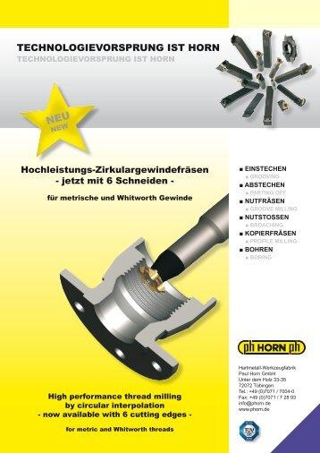 TECHNOLOGIEVORSPRUNG IST HORN - Horn Magyarország Kft.