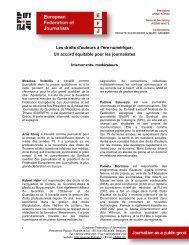 Les droits d'auteurs à l'ère numérique: Un accord équitable ... - Europe