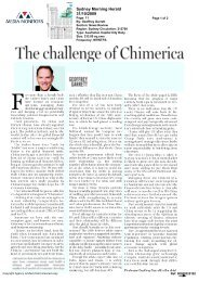 The challenge of Chimerica - United States Studies Centre