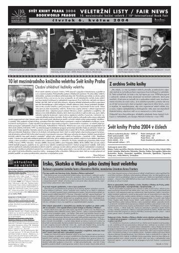 Stáhněte si veletržní listy ve formátu pdf, velikost 600kB. - Svět knihy