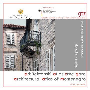 arhitektonski atlas crne gore architectural atlas of ... - Vlada Crne Gore