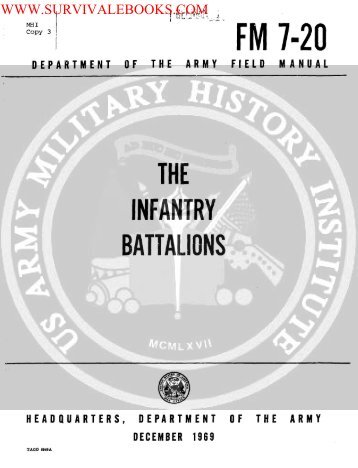 1969 US Army Vietnam War The Infantry Battalions ... - Survival Books