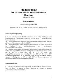 Bacheloruddannelsen i Erhvervsjura, HA (jur.) - Det ...