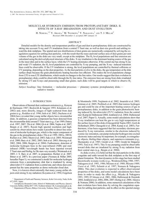 molecular hydrogen emission from protoplanetary disks. ii. effects of ...