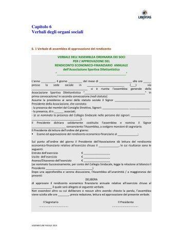 Capitolo 6 Verbali degli organi sociali - Libertas