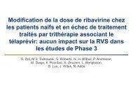 Absence d'impact de la modification de dose de ribavirine sur ... - Afef