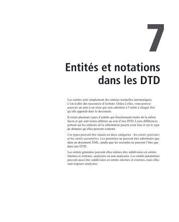Entités et notations dans les DTD - Pearson