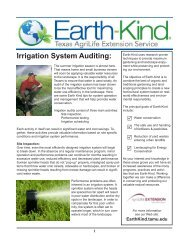 Irrigation System Auditing: - Aggie Horticulture