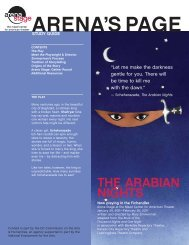 THE ARABiAn niGHTs - Arena Stage