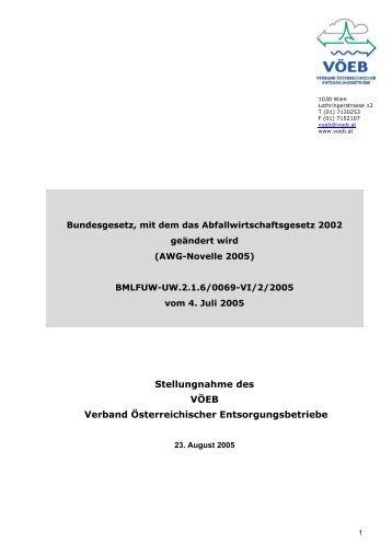 Stellungnahme des VÖEB Verband Österreichischer ...