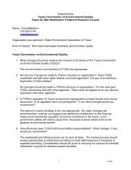 July 14, 2010 - Letter to TCEQ's Sunset Advisory Commission ...