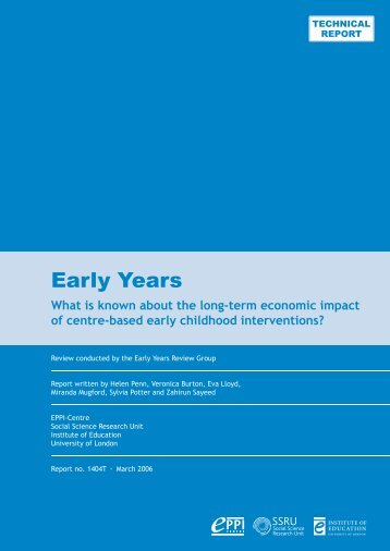 Technical report (pdf) - EPPI-Centre - Institute of Education ...