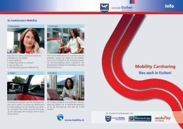 Flyer Mobility Car Sharing herunterladen (PDF) - Gemeinde Eschen