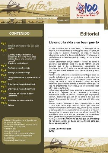 Info SCOUT 53 - Scouts del Perú