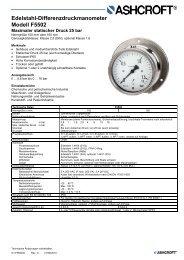 Datenblatt F5502 - Ashcroft Instruments GmbH