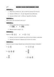 3ème soutien calcul fractionnaire - PGCD - Collège Anne de Bretagne