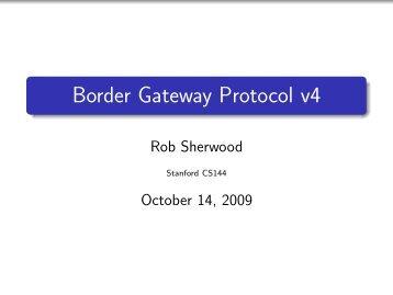 Border Gateway Protocol v4