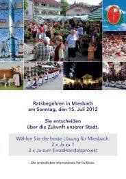 Ratsbegehren in Miesbach am Sonntag, den 15. Juli 2012 Sie ...