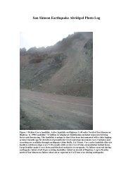 San Simeon Earthquake Abridged Photo Log