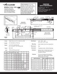 7432/7434 QUicK REFEREncE - Accuride