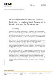 Enclosure 2 Background Paper Lead in Articles for Consumer use