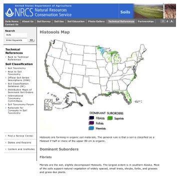 Histosols Map | NRCS Soils