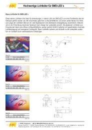 Übersicht starre Lichtleiter - Elpac Components und ...