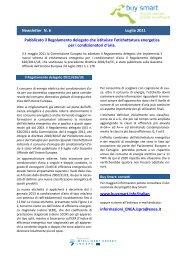 Newsletter N. 6 Luglio 2011 Pubblicato il Regolamento ... - Buy Smart