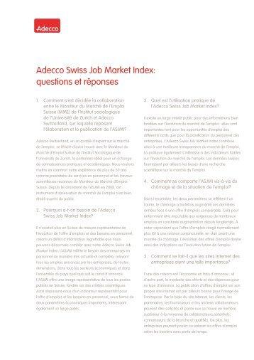questions et réponses - Adecco Switzerland