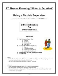 """2 Theme: Knowing """"When to Do What"""" Being a Flexible Supervisor"""