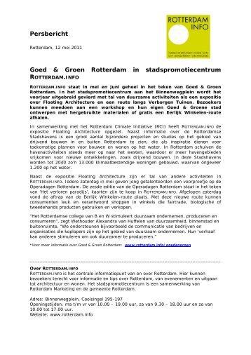 Persbericht Goed & Groen Rotterdam in ... - Rotterdam.info