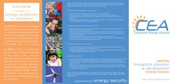of energy resources - Consumer Energy Alliance