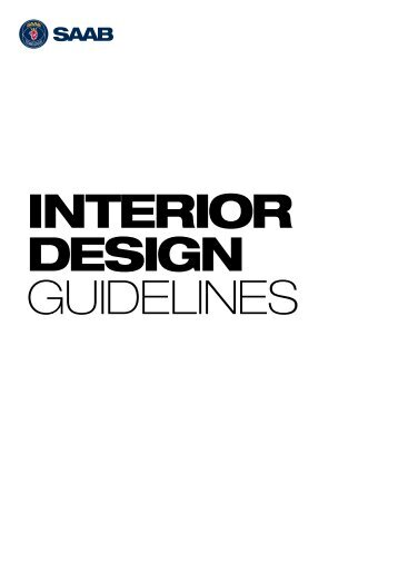 Interior design guidelines - Saab
