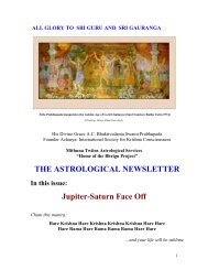THE ASTROLOGICAL NEWSLETTER - Issue-23 - ebooks - ISKCON ...