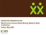 Merrill Lynch Presentation Dublin May 2007 - Exxaro