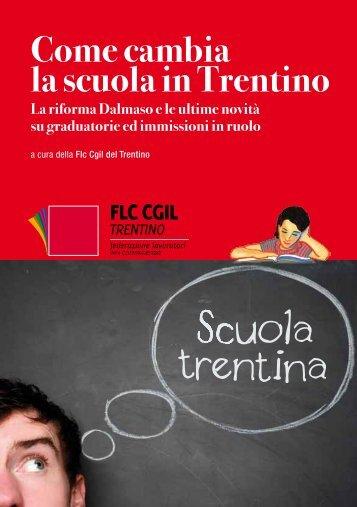 Come cambia la scuola in Trentino - CGIL del Trentino